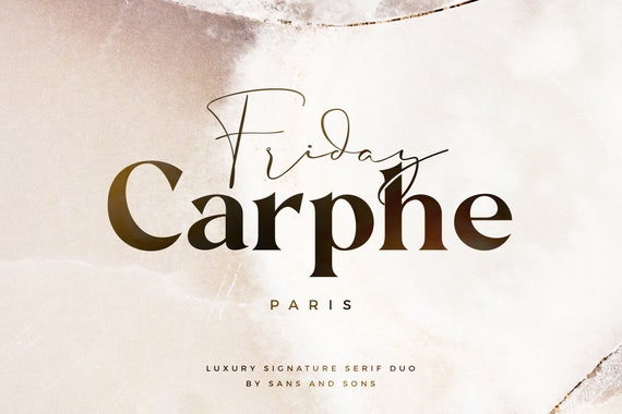 Carphe - Modern Luxury Font Duo