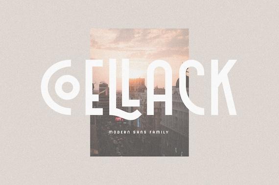 Coellack - Modern Art Deco Font