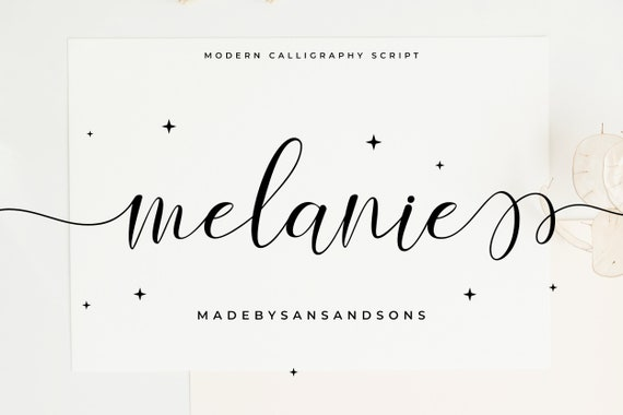 Melanie Love - Swashes Font, Calligraphy Font, Modern Calligraphy, Heart Fonts, Wedding Font, Invitation Font, Script Font, Cricut Font