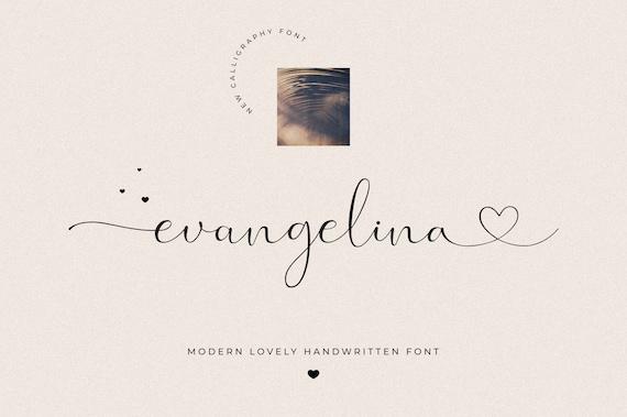 Evangelina - Lovely Font