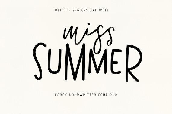 Miss Summer - Modern Fun Font