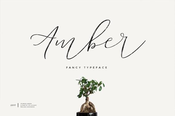 Miss Amber - Modern Script Font