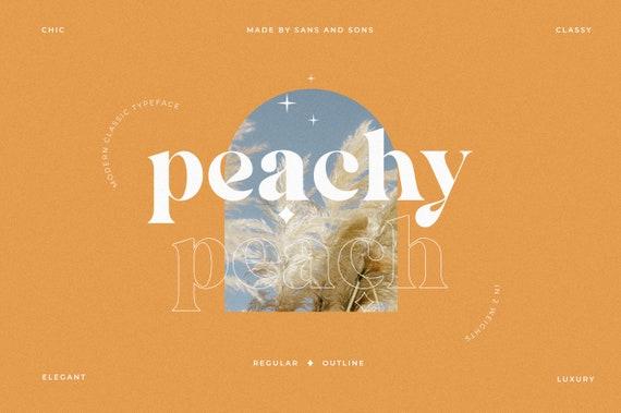 Peach - Modern Serif Font