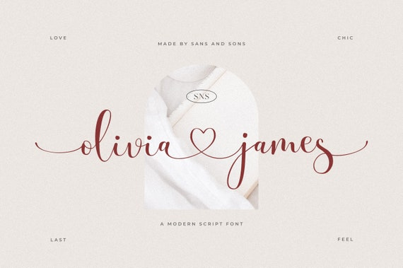 Olivia James - Romantic Font