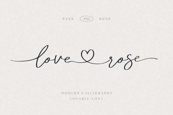 Love Rose - Modern Lovely Font