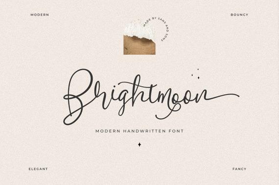 Brightmoon - Modern Calligraphy Font