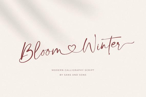 Bloom Winter - Modern Calligraphy Font