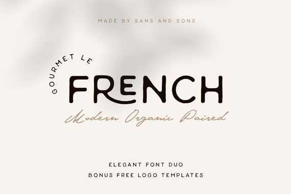Le French - Modern Organic Font Duo