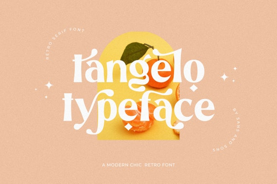 Tangelo - Retro Serif Font