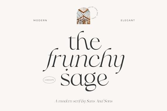 Frunchy Serif - Modern Aesthetic Font