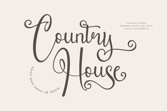 Country House - Modern Elegant Font
