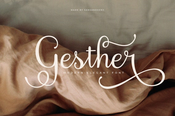 Gesther - Modern Calligraphy Font