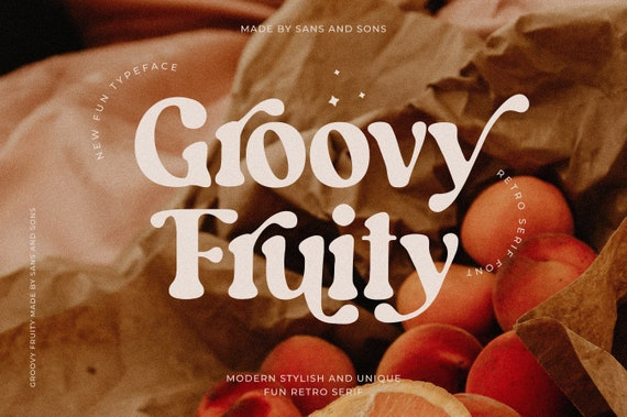 Groovy Fruity - Fun Retro Font