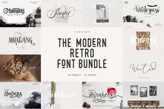 Modern Retro Font Bundle
