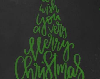 we wish you a merry christmas printable