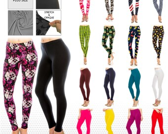 117200bd739 Women s Ultra Butter Soft Patterned and Solid Color Leggings  One Size and Plus  Size