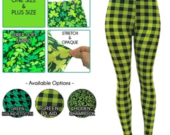 SAINT ST PATRICKS DAY GREEN BEER IRISH GOLD OS ONE SIZE Buttery SOFT LEGGINGS