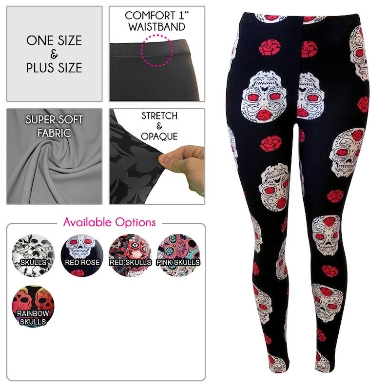 Halloween  Cinco De Mayo Skull Leggings for Women *Free Shipping*