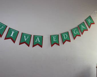 Fiesta Birthday Banner/Viva Customized Banner/Traditional Mexican Colors