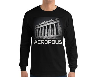 Acropolis Parthenon Greece Limited Edition Print Long Sleeve T-Shirt fd6a220cd55