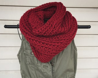 Chunky Crocheted Infinity Scarf