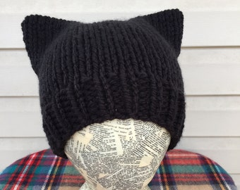 Handmade Knitted Kitty Cat Hat