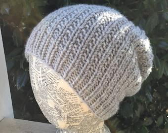 Handmade Knitted Slouchy Beanie Hat