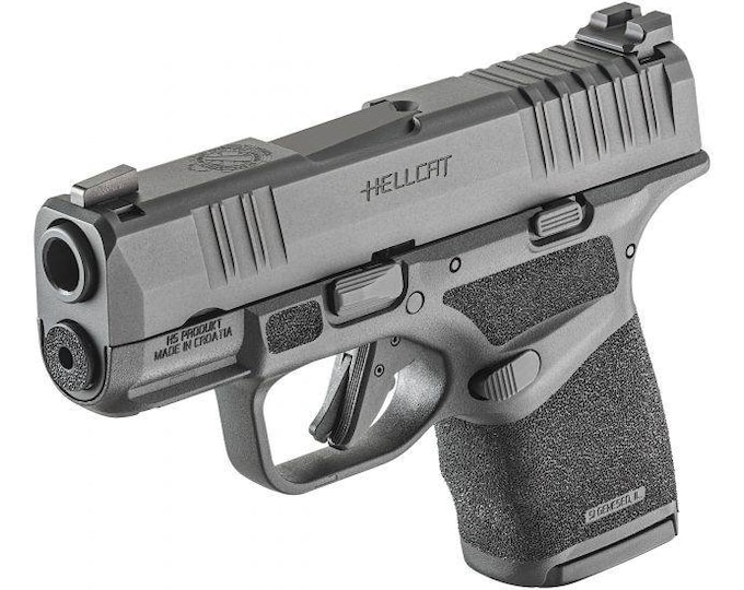 Pre-Order! Springfield Armory Hellcat IWB Holster   Custom Kydex IWB Holster with Concealment Wing and Tuckable Clip