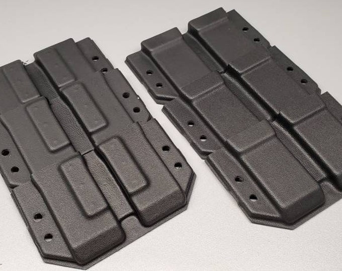Holstermakers ONLY! Vacuum Formed MRD Double Stack 45/10 Double OWB Mag Carrier Shells, Router Trimmed