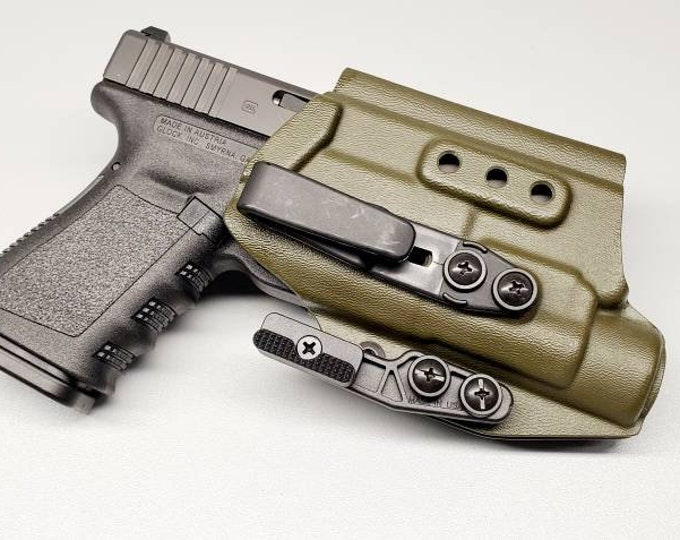 Glock 19/23/32 with Streamlight TLR-1 - Custom Kydex IWB Holster  (Glock 19 Gen 3-5 Compatible) - Hand Made in the USA!