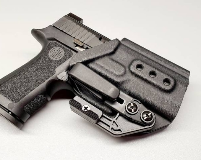 Sig Sauer P320 X Compact | Custom Kydex IWB Holster with Tuckable Clip and Concealment Wing | Hand Made in the USA