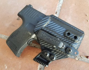 Sig P365 with Sig LIMA 365 Laser - Custom Kydex IWB Holster With Concealment Wing and Tuckable Clip