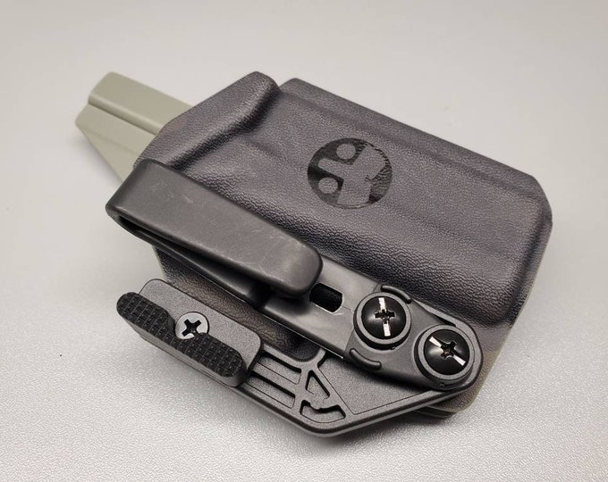Glock 43-Custom Kydex IWB Holster with Tuckable Clip and Concealment Wing for Glock 43. Hand Made in the USA