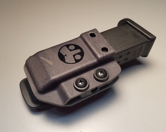 Universal OWB Single Magazine Carrier for Double Stack 9/40 Mags - with Adjustable MRD (Mag Retention Device) | Ambidextrous