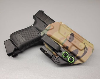 Glock 19/23/32 (Gen 3-5 Compatible)-IWB Holster with Tuckable Clip and Concealment Wing for Glock 19/23/32. Hand Made in the USA