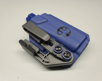 Glock 42-Custom Kydex IWB Holster with Tuckable Clip and Concealment Wing for Glock 42. Hand Made in the USA
