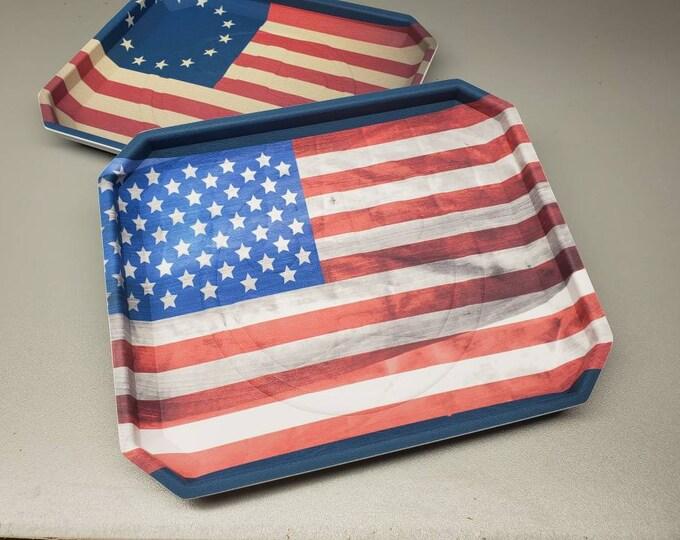 New! US Flag Print | Tuxton EDC Dump Trays |Hand Made in USA!