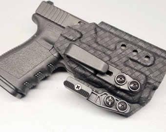 Glock 19/23/32 with Streamlight Tlr-7/TLR-7 A Custom Kydex IWB Holster  (Glock 19 Gen 3-5 Compatible)  - Hand Made in the USA!