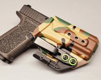 Quick Ship (One available) P80 Polymer 80 PF940C (Glock 19 Frame)- IWB Holster with Tuckable Clip and Concealment Wing