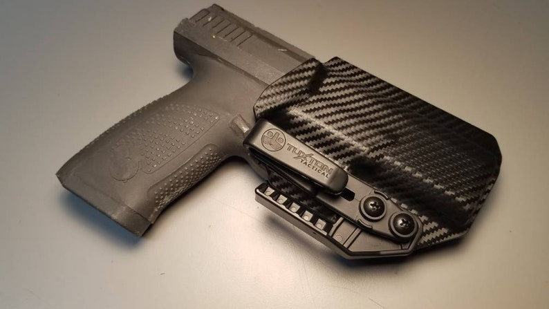 CZ P10c-Custom Kydex IWB Holster with Tuckable Clip and Concealment Wing  for CZ P10c