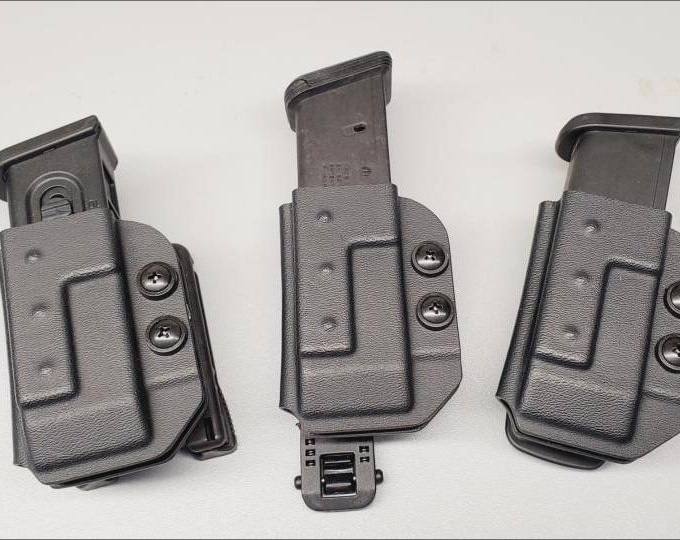 Quick Ship! Universal OWB Single Magazine Carrier for Double Stack 9/40 Mags - with Adjustable MRD (Mag Retention Device) | Ambidextrous