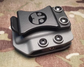 Universal IWB Single Magazine Carrier for Double Stack 9/40 Mags - with Adjustable MRD (Mag Retention Device) | Ambidextrous