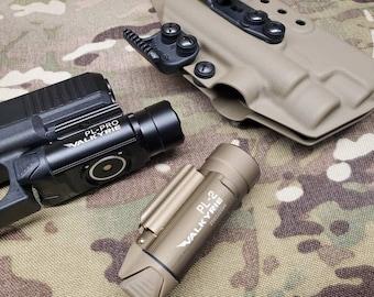 Glock 19/17/34 with Olight PL Pro/PL 2 Valkyrie -  (Glock 19,17,34 Gen 3-5 Compatible) Custom Kydex IWB Holster