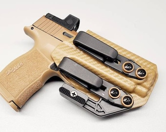 P365 XL IWB Holster with Tuckable Clip(s) and Concealment Wing | Hand Made In USA!