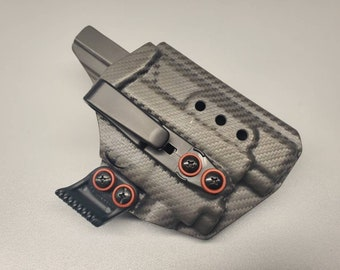 PL Mini 2! Glock 48 with Recover Tactical Rail and Olight PL Mini 2 | IWB Holster with Tuckable Clip(s) and Concealment Wing