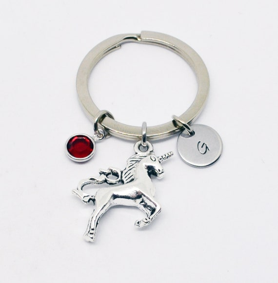 Unicorn mobile phone dust plug charm personalised gift initial letter birthstone