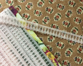 """New Pink Lace Trim 5/8"""" wide x 9-7/8 yards long"""