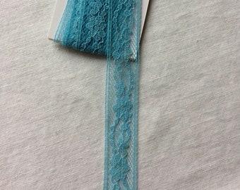 "New Blue Seam Binding Lace Trim 3/4"" wide x 1-7/8 yards long"