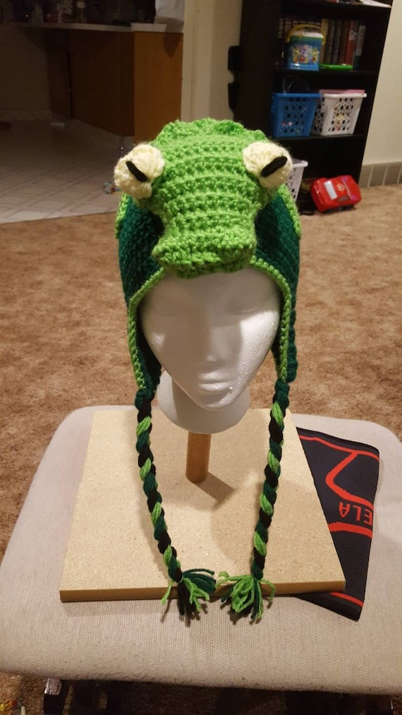 Crochet Pattern For Alligator Or Crocodile Hat Etsy