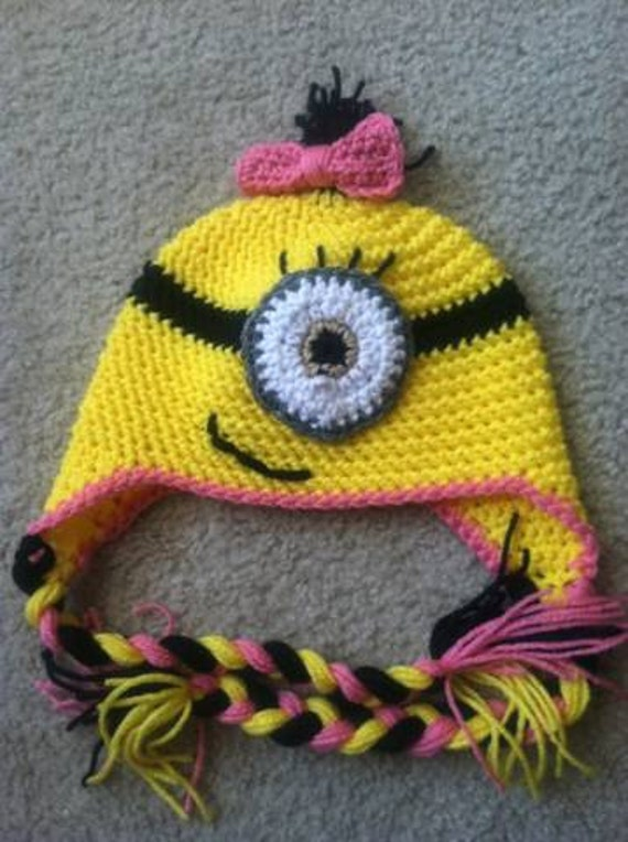 Crochet Minion Hats Pattern Etsy